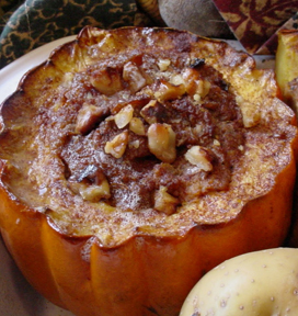 Savory Stuffed Acorn Squash with Goji Berries & Pecans