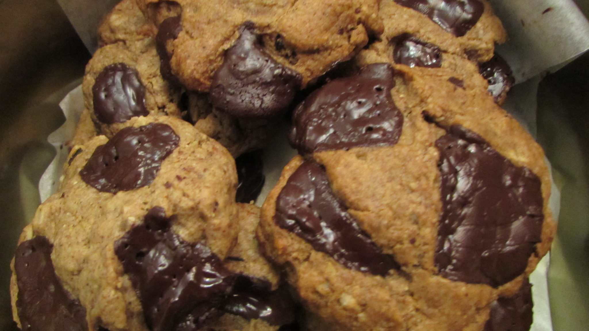 Healthy Almond Butter Chocolate Chunk Cookies