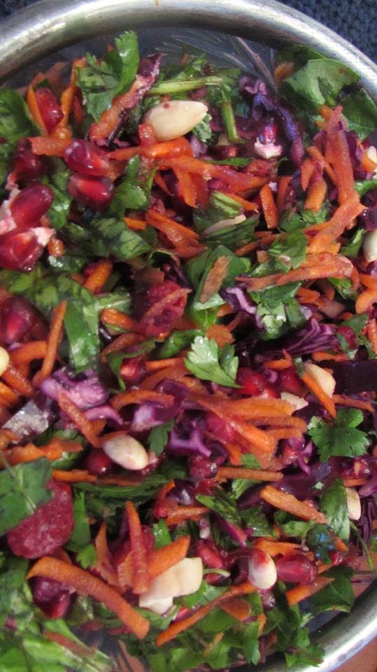 Toronto Nutritionist Janet Zdichavsky REFRESHING WINTER SLAW WITH RASPBERRY DRESSING