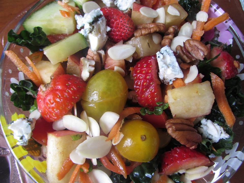 "Immune Boosting ""Strawberry Mint Salad"