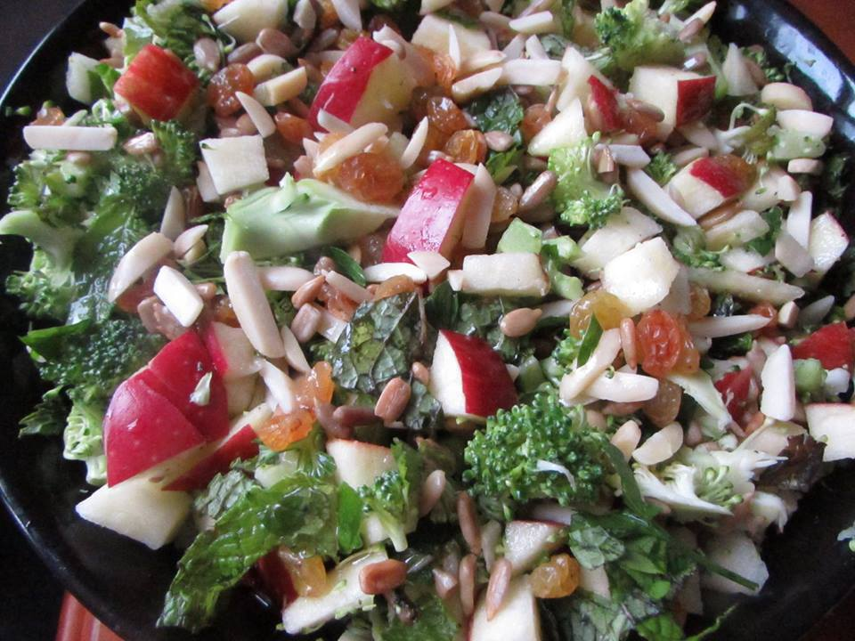 Toronto Nutritionist Janet Zdichavsky Summer Broccoli Apple Almond Salad