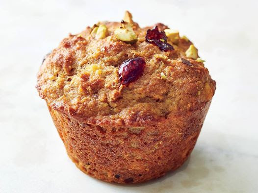 Toronto Nutritionist Janet Zdichavsky Healthy Fresh Pumpkin Spice Muffins w Chopped Walnut + Cranberries