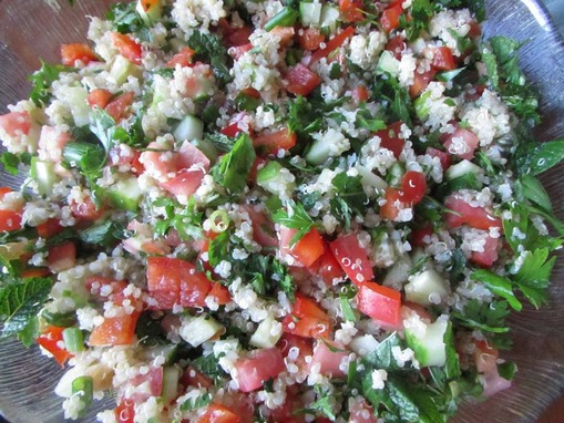 Toronto Nutritionist Janet Zdichavsky Fresh Quinoa Tabbouleh Salad