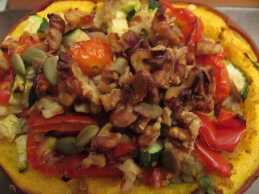 Toronto Nutritionist Janet Zdichavsky Healthy SUPER NUTRIENT DENSE: MUSHROOM QUINOA VEGGIE STUFFED PUMPKIN