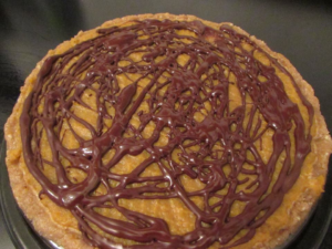 Toronto Nutritionist Janet Zdichavsky Pumpkin Coconut Cream Pie w Drizzled Chocolate + Walnut Crust 1